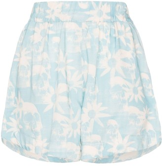 Double Rainbouu Gogo floral print shorts