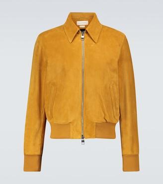 Alexander McQueen Suede blouson jacket