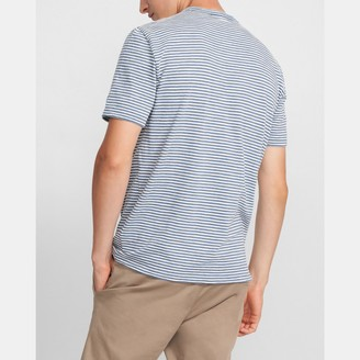 Theory Essential Tee in Striped Cotton Blend