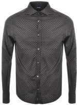 Giorgio Armani Jeans Custom Fit Logo Shirt Brown