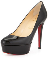 Christian Louboutin Bianca Platform Red Sole Pump, Black