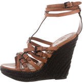 Burberry Wrap-Around Wedge Sandals