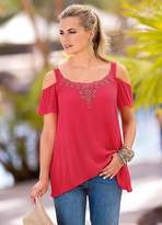 Together Lace Cold-Shoulder Top