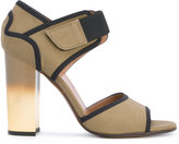 Marni Ombré heel technical sandals - women - Cotton/Calf Leather/Leather/Viscose - 38
