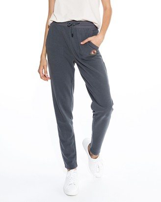 Nicole Miller Skinny Jogger With Evil Eye Embroidery