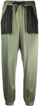 Love Moschino Mesh-Pocket Trousers