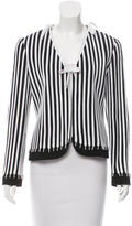 Moschino Cheap & Chic Moschino Cheap and Chic Striped Open Front Jacket