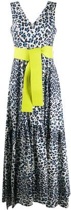 P.A.R.O.S.H. Leopard Print Long Dress