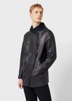 Giorgio Armani Nappa Leather Jacket With Cashmere Lining