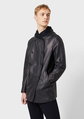 Giorgio Armani Nappa Leather Jacket With Cashmere Lining
