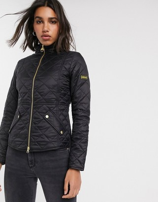 Barbour International delaware quilted jacket-Black