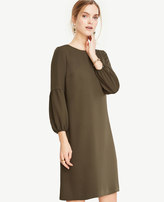 Ann Taylor Petite Lantern Sleeve Shift Dress