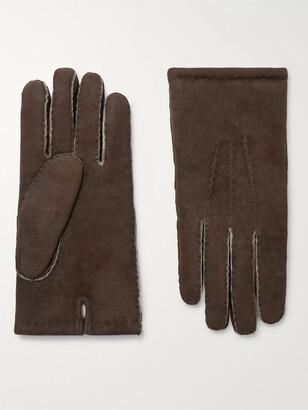 Dents Shearling Gloves - Men - Brown