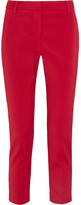 Tibi Beatle Cropped Stretch-faille Tapered Pants - US4