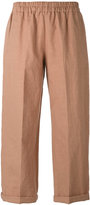 Forte Forte cropped trousers - women - Cotton/Linen/Flax - I
