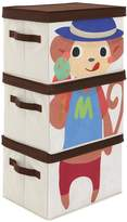 Kidspace Ideal Kids Monkey Storage Boxes (Set of 3)