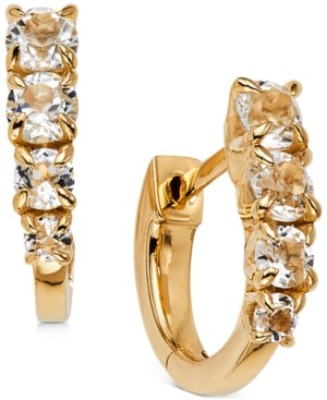 AVA NADRI Crystal Huggie Hoop Earrings