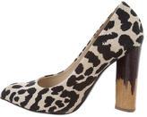 Diane von Furstenberg Canvas Pointed-Toe Pumps