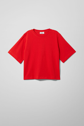 Weekday Trish Relaxed T-Shirt - White