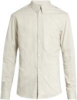 Lemaire Button-cuff striped cotton shirt