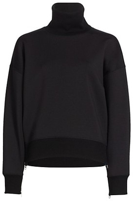 Rag & Bone Modular Zipper-Trimmed Turtleneck Sweatshirt