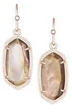 Kendra Scott Signature Petite Dani Earrings in Brown Mother of Pearl and Rose Gold Plated