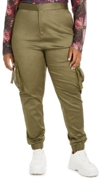 Lala Anthony Trendy Plus Size Skinny Cargo Pants, Created for Macy's