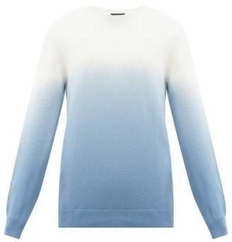 A.P.C. Skyline Ombre Tie-dye Cotton Sweater - Blue Multi