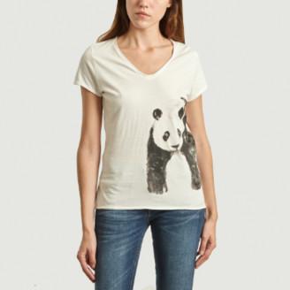 Nach White Panda Print T Shirt - small