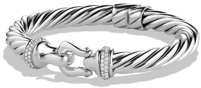 David Yurman Buckle Cable Bracelet with Diamonds