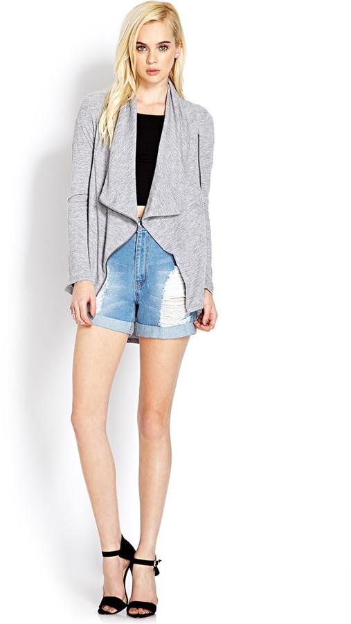 Forever 21 Drapey Heathered Knit Jacket