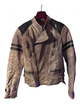 Jean Paul Gaultier Ecru Leather Jackets