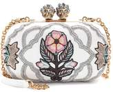 Alexander McQueen Queen and King embroidered box clutch