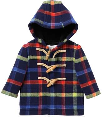 Burberry Brogan Checkered Hooded Wool Toggle Coat (Baby Boys)