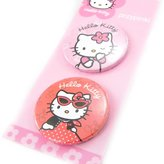 Hello Kitty Set of two badges 'Hello Kitty' .
