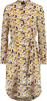 Saloni Jolie belted printed silk-chiffon midi dress
