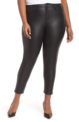 Seven7 Signature Skinny Crop Coated Jeans