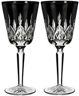 Waterford Lismore Black Wine Goblets - Set of 2