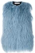 Oscar de la Renta dyed Mongolian lamb vest