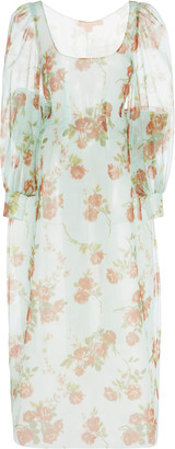 Brock Collection Floral-Printed Silk-Chiffon Maxi Dress