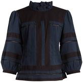 Etoile Isabel Marant Ritz ruffled-neck cotton blouse