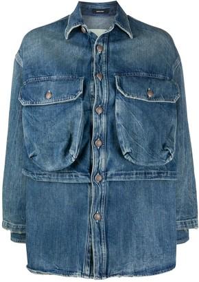 R 13 Alice layered denim jacket