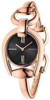 Gucci YA139507 Horsebit Rose Goldtone Bangle Watch