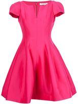 Halston flared mini dress