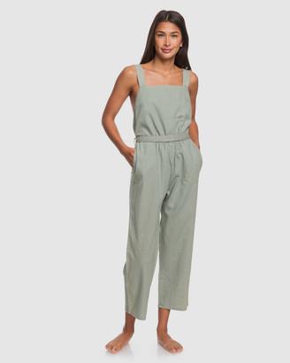 Roxy Womens Love Love Love Linen Jumpsuit