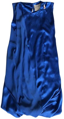 Maison Rabih Kayrouz Blue Silk Dresses