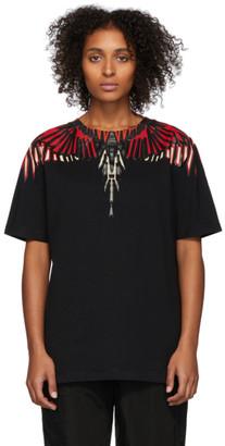 Marcelo Burlon County of Milan Black Geometric Wings T-Shirt
