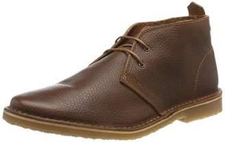 Jack and Jones Men's Jfwgobi Leather Desert Boots, Brown Stone