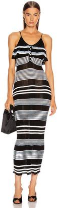 Self-Portrait Stripe Fine Knit Cami Dress in Multi | FWRD
