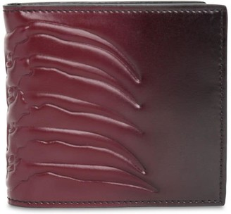 Alexander McQueen Classic Rib Cage Leather Billfold Wallet